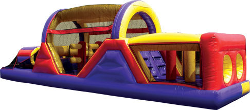 40-foot inflatable backyard obstacle course