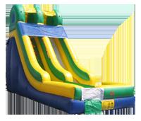 Alternate color scheme inflatable slide